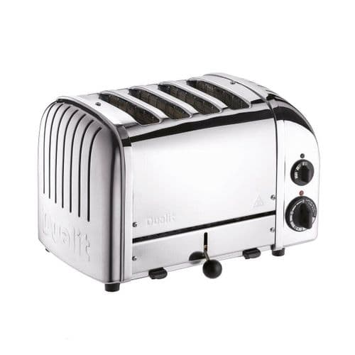 Dualit Classic 4 Slot Toaster With Sandwich Cage Polished Stainless Steel 40590